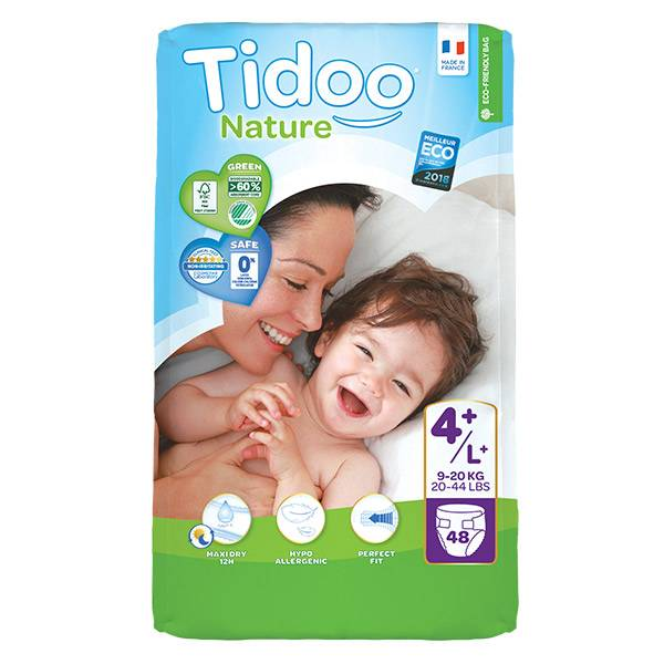 Tidoo Night & Day Couches Taille 4+ Maxi+ 48 couches