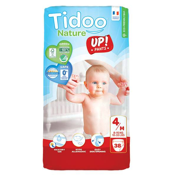 Tidoo Culottes d'Apprentissage Stand Up T4 Maxi (8 -15kg) 38 couches
