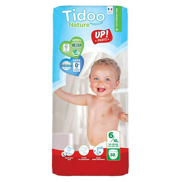 Tidoo Stand Up Culottes d'Apprentissage Taille 6 XL 32 culottes