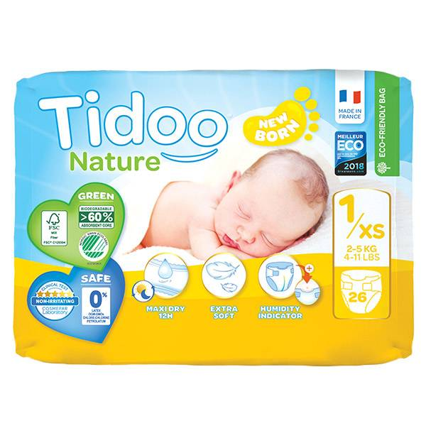 Tidoo Night & Day Couches Taille 1 Newborn 26 couches