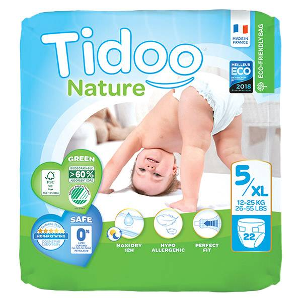 Tidoo Couches Night & Day T5 Junior 12-25kg 22 unités