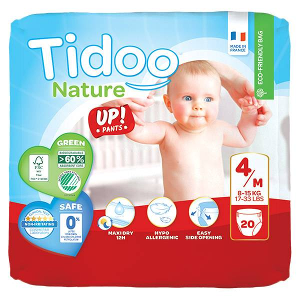 Tidoo Stand Up Culottes d'Apprentissage Taille 4 Maxi 20 culottes