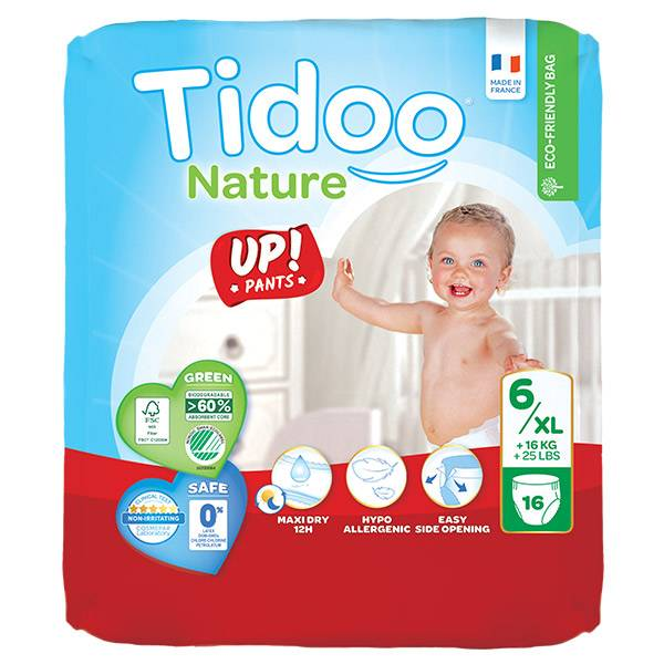 Tidoo Stand Up Culottes d'Apprentissage Taille 6 XL 16 culottes