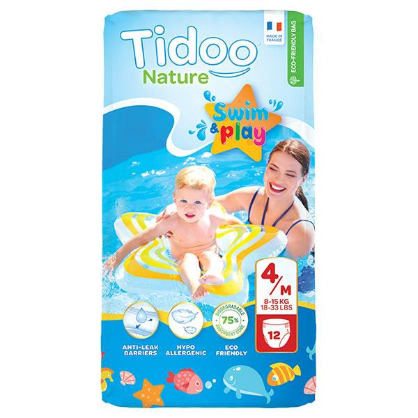 Tidoo Swim & Play Culottes de Bain Taille 4 12 culottes jetables