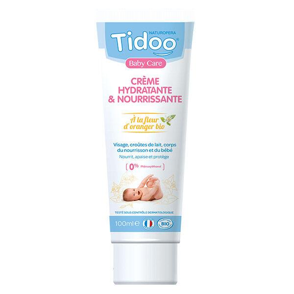 Tidoo Soin Crème Hydratante & Nourrissante à la Fleur d'Oranger Bio 100ml