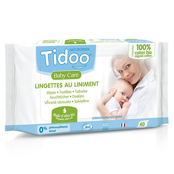 Tidoo Lingettes au Liniment 40 Unités