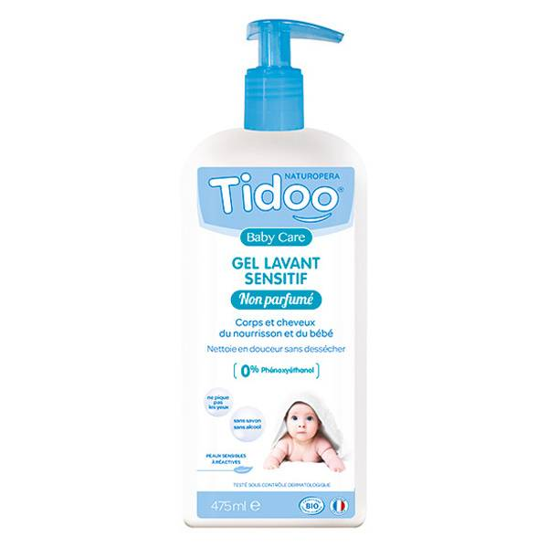Tidoo Soin Gel Lavant Sensitif Bio 475ml