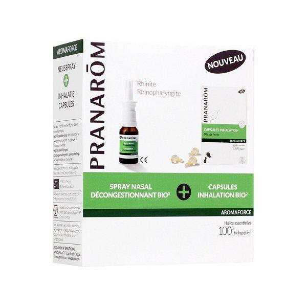 Pranarom Aromaforce Spray Nasal Décongestionnant 15ml + Capsules Inhalation 15 capsules