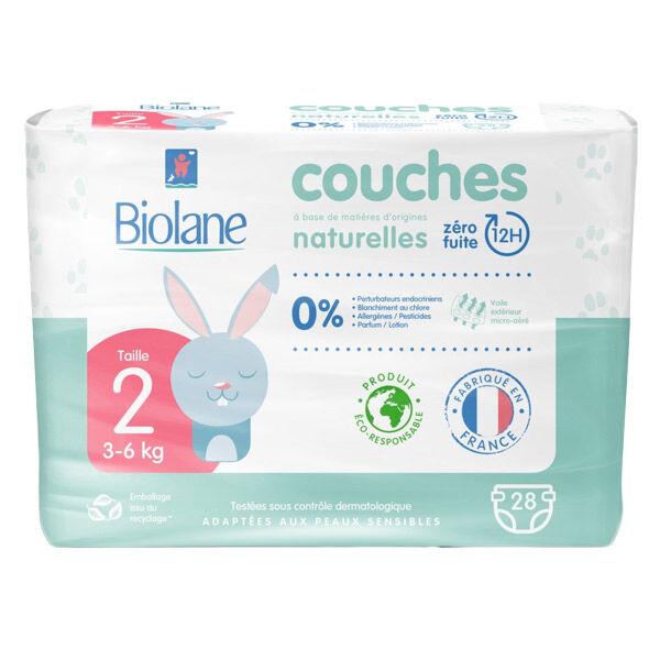 Biolane Couches Naturelles T2 (3-6 kg) 28 Couches