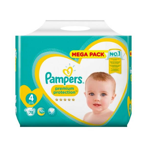 Pampers Premium Protection Taille 4 9-14kg 78 couches
