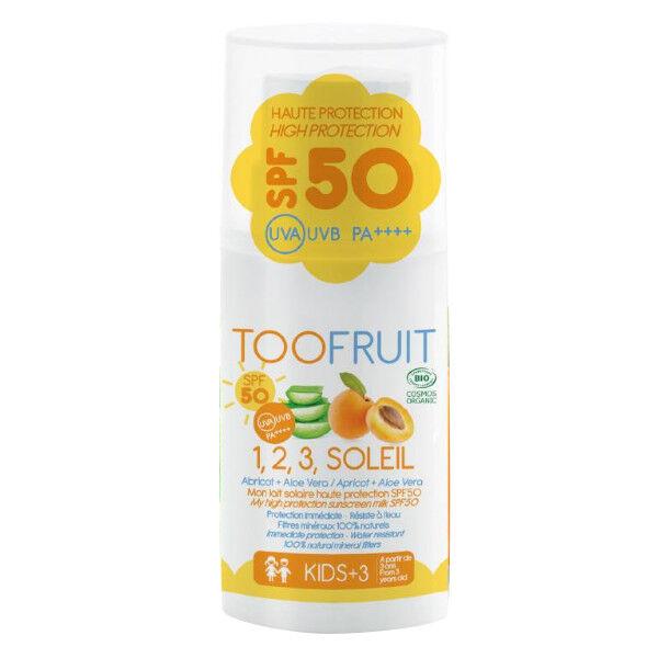 Toofruit 1,2,3 Soleil Lait Solaire Abricot Aloé Vera SPF50 Bio 30ml