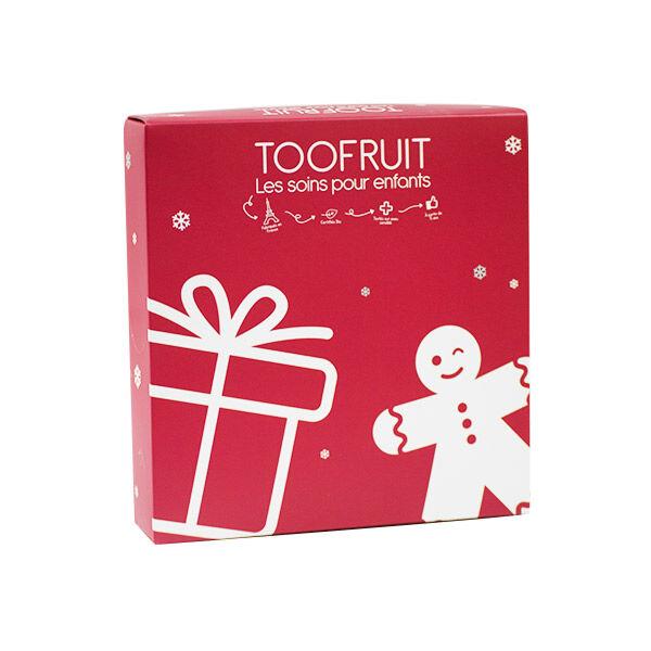 Toofruit Coffret Noël Enfant Rouge 3 produits + Un Emporte Pièce Pomme