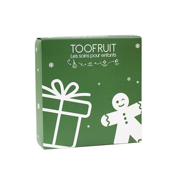 Toofruit Coffret Noël Enfant Vert 3 produits + Un Emporte Pièce Pomme