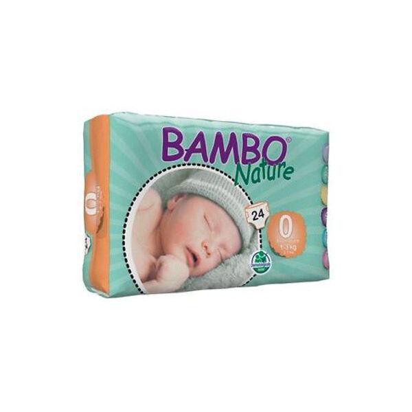 Bambo Nature Couche Taille 0 1-3kg 24 unités