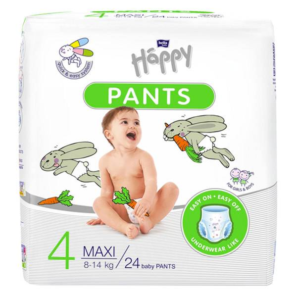 Happy Pants Couches Culottes T4 Maxi 8-14kg 24 unités