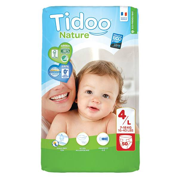 Tidoo Nature Couches Night & Day T4 Maxi (7 - 18kg) 50 couches