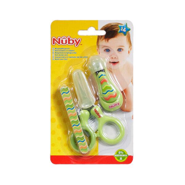 Nuby Set Manucure Motifs Traits Verts 1m+