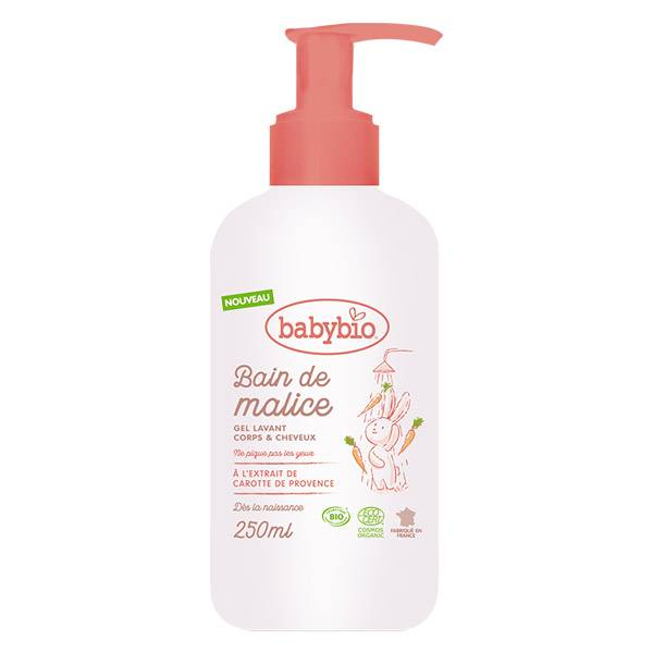 Babybio Bain de Malice Gel Lavant Corps & Cheveux Bio 250ml