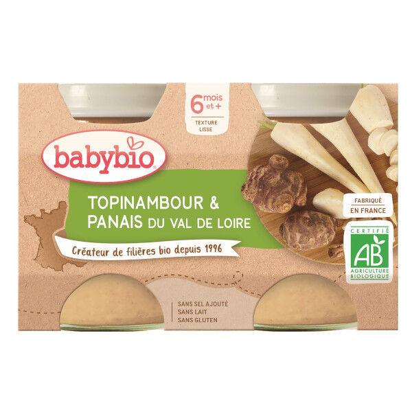 Babybio Mes Légumes Pot Topinambour Panais +6m Bio 2 x 130g