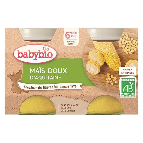 Babybio Mes Légumes Pot Maïs Doux +6m Bio 2 x 130g
