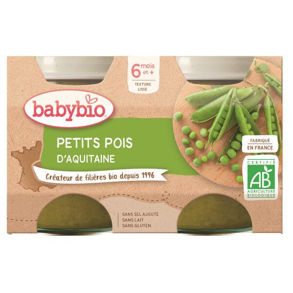 Babybio Mes Légumes Pots Pomme de Terre Petits Pois dès 6 mois 2 x 130g