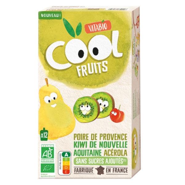 Vitabio Cool Fruits Gourde Poire Kiwi Acérola +3m Bio 12 x 90g