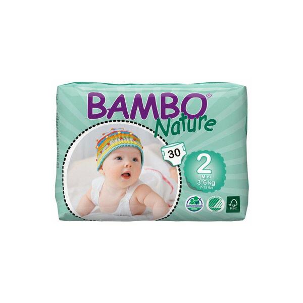 Bambo Nature Couche Taille 2 3-6kg 30 unités