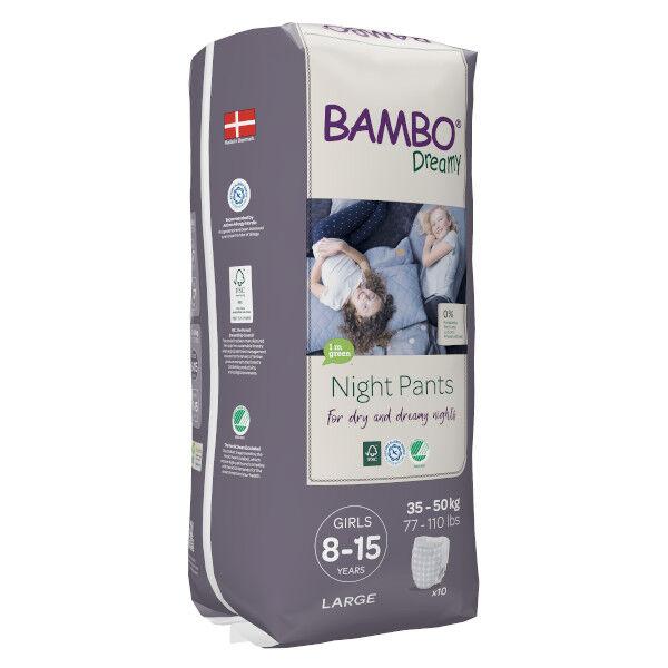 Bambo Nature Dreamy Couche de Nuit 35-50 kg Girl 10 unités