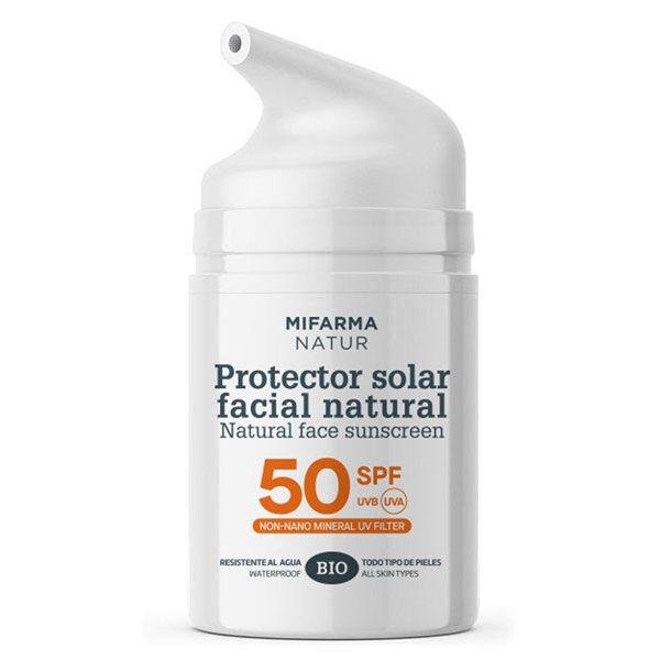 Mifarma Natur Crème Solaire Minérale Visage SPF50 Bio 50ml
