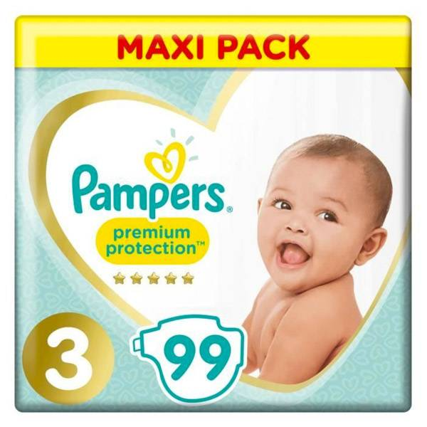 Pampers Premium Protection Taille 3 6-10kg 3 packs de 33 Couches