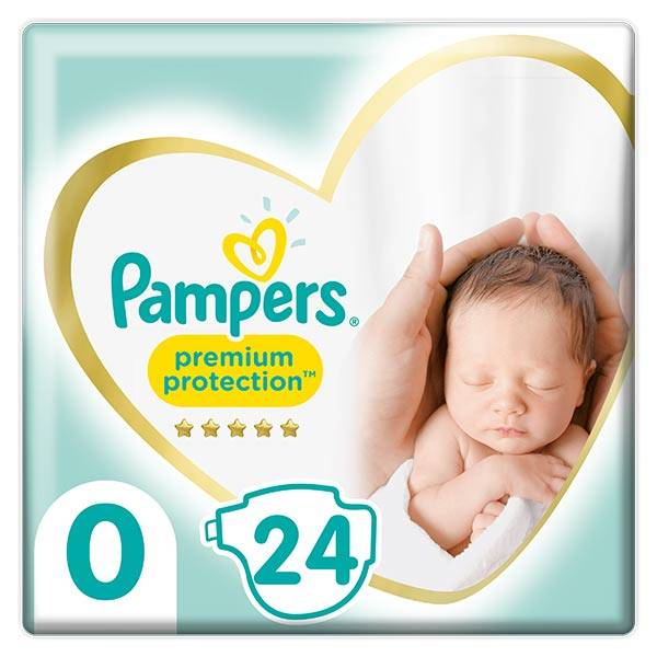 Clearblue Pampers Premium Protection Couche Taille 0 24 unités