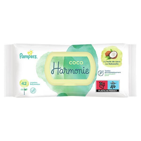 Pampers Lingettes Harmonie Coco 42 lingettes