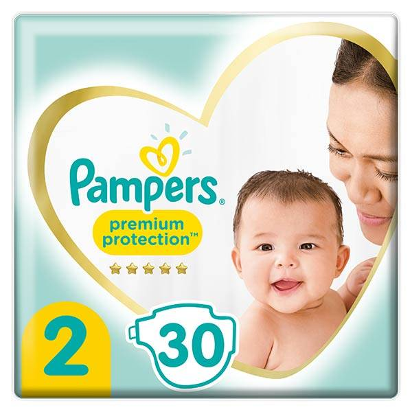 Pampers Premium T2 4-8kg 30 couches
