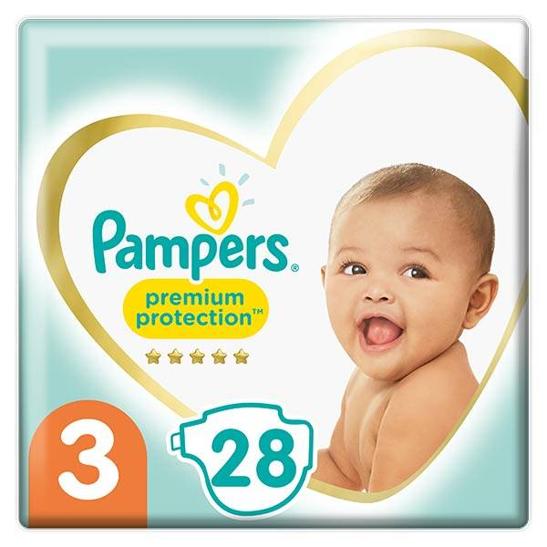 Pampers Premium T3 6-10kg 28 couches
