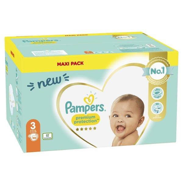 Pampers Premium T3 6-10kg 102 couches