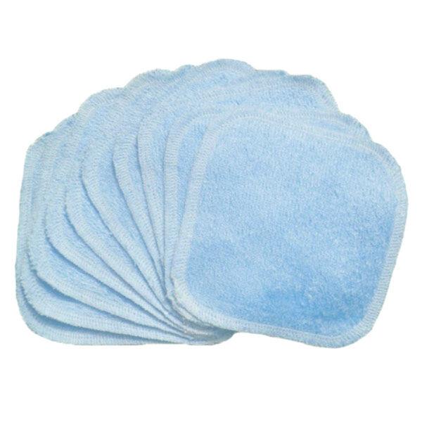 Bumdiapers Lingettes Lavables Coton Bio Bleu Ciel 15 x 15 10 Unités
