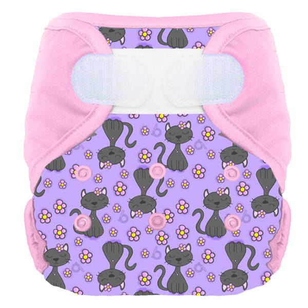 Bumdiapers Couche Lavable + 1 Insert Lola le Chat 0-3 ans