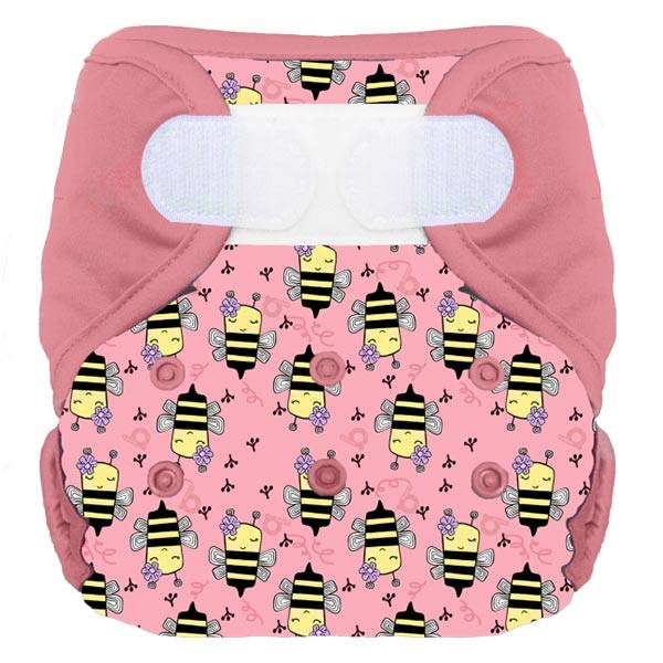 Bumdiapers Couche Lavable + 1 Insert Maéva L'abeille 0-3ans+