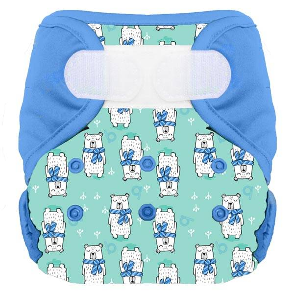 Bumdiapers Couche Lavable + 1 Insert Sacha l'Ours 0-3ans+