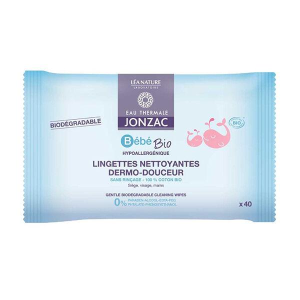 Jonzac Bébé Lingettes Nettoyantes Dermo-Douceur Bio 40 lingettes