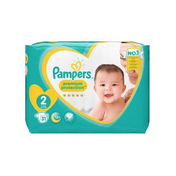 Pampers New Baby T2 3 - 6 kg 31 couches