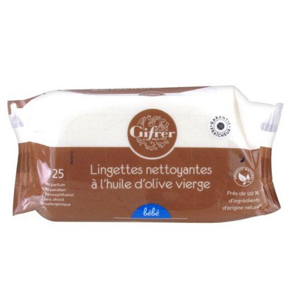 Gifrer Lingettes Nettoyantes à l'Huile d'Olive 25 Lingettes