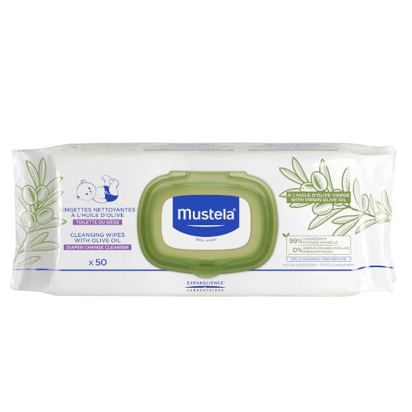 Mustela Lingettes à l'Huile Olive 50 unités
