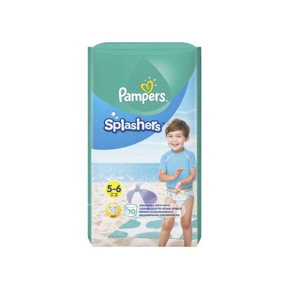 Pampers Splashers Couches-Culottes de Bains Jetables T5/6 +14kg 10 unités