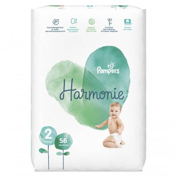 Pampers Harmonie T2 4-8kg 56 couches