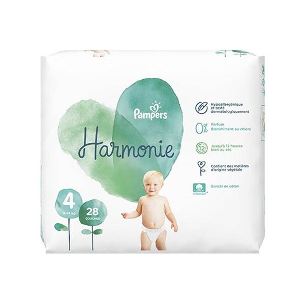 Pampers Harmonie T4 9-14kg 28 couches