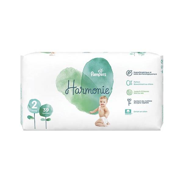 Pampers Harmonie T2 4-8kg 39 couches