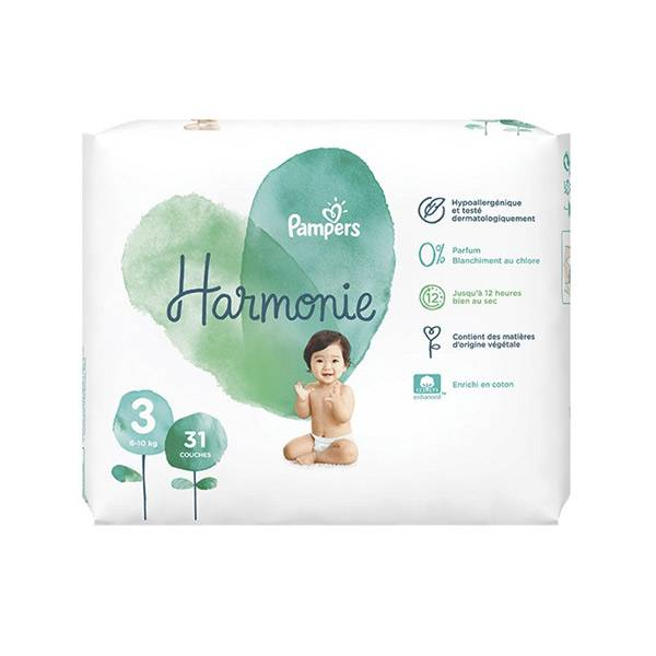 Pampers Harmonie T3 6-10kg 31 couches