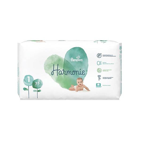 Pampers Harmonie T1 2-5kg 35 couches