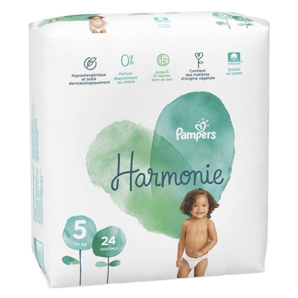 Pampers Harmonie T5 +11kg 24 couches